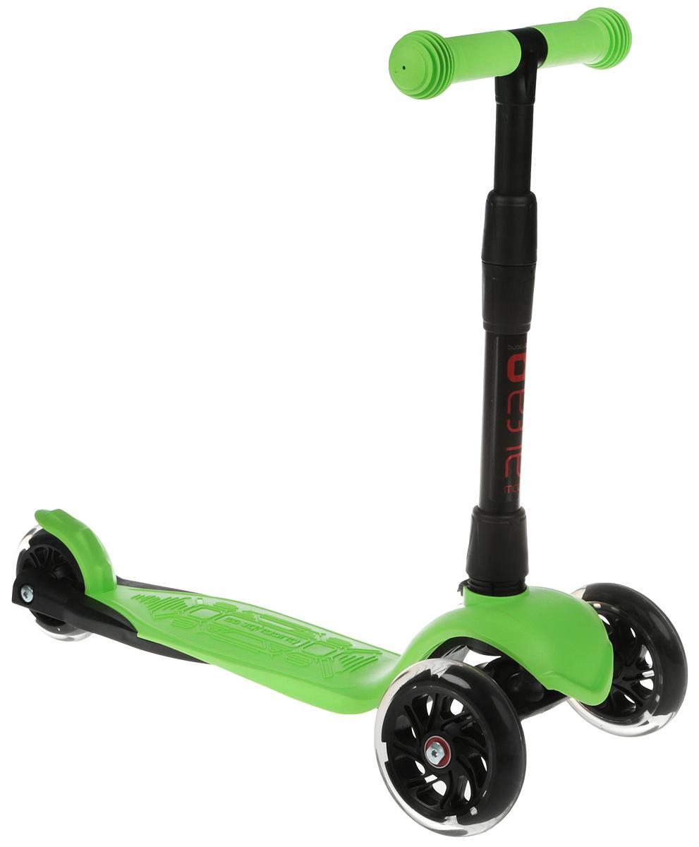 Детский самокат Buggy Boom Alfa Model, трехколесный, цвет: зеленый 53003-215377С трехколесным самокатом Buggy Boom Alfa Model ваш ребенок сможет укрепить здоровье,просто наслаждаясь прогулкой. Он имеет надежную устойчивую конструкцию и ручки спротивоскользящей поверхностью. Руль складывается и регулируется по высоте, колесасветятся. Катание на самокате развивает координацию.В комплект включено: 2ключа;Инструкция.