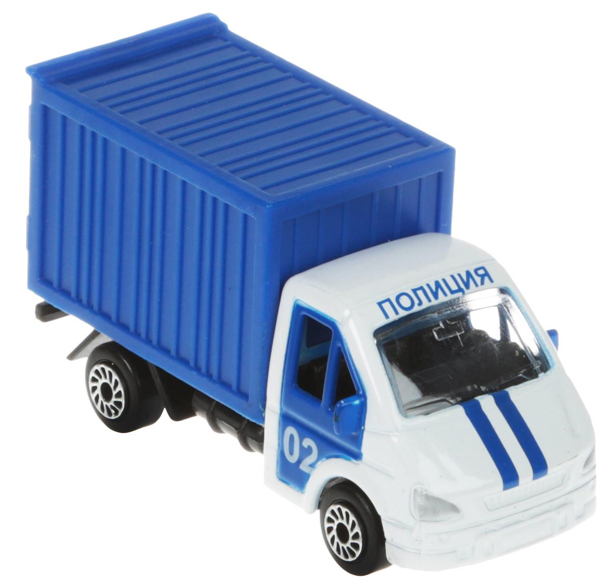ТехноПарк Модель автомобиля Газель Полиция цвет синий машины wader автомобиль констрак полиция