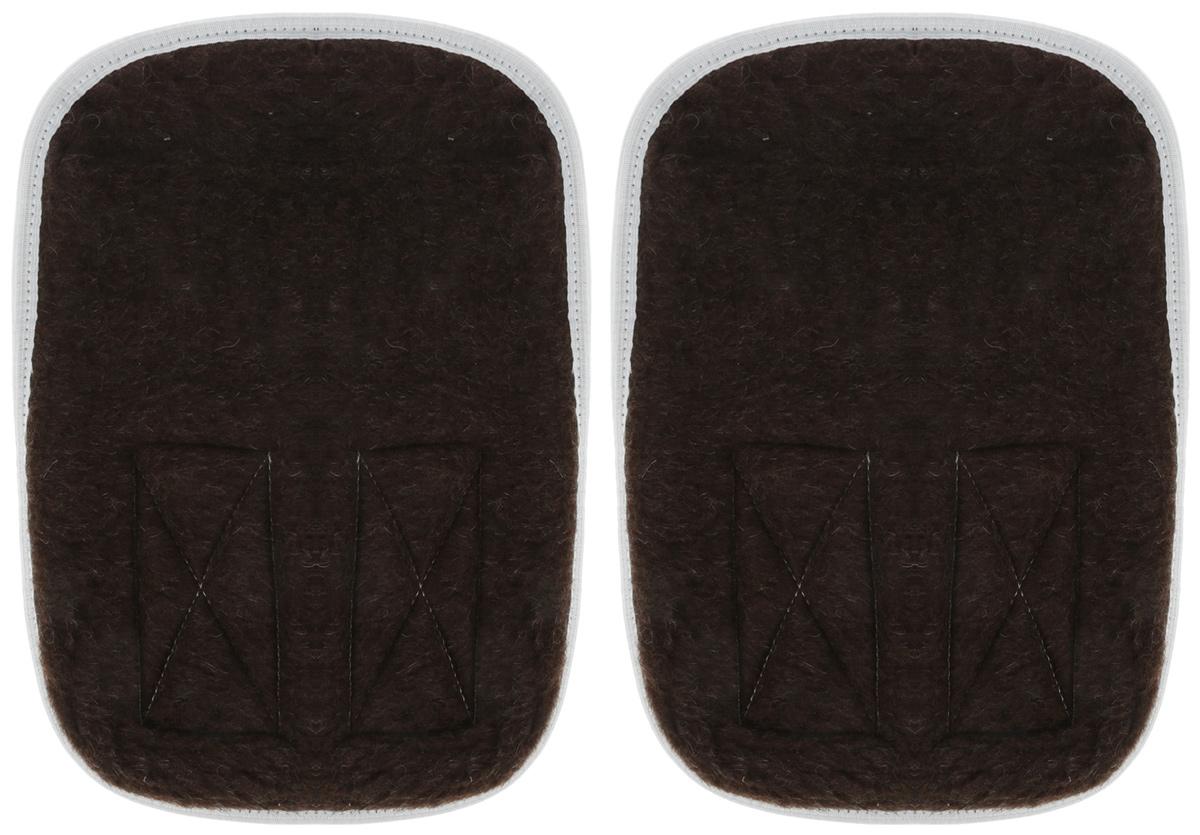 Bio-Textiles Наколенник, налокотник с мехом овцы, цвет: коричневый. Размер XL/3XL наколенник налокотник лето зима в ассортименте