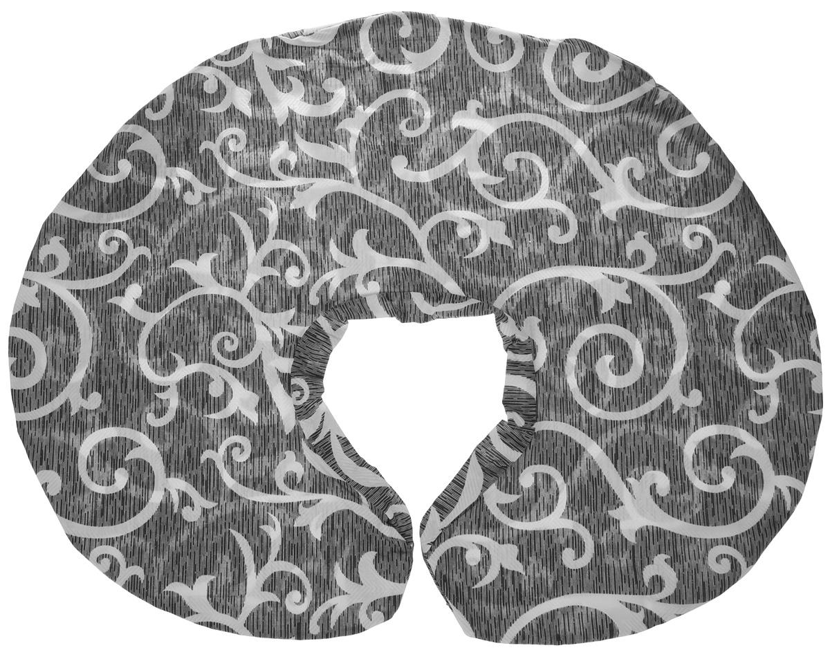 Съемная наволочка на молнии стильного серого цвета со штрихом и белым узором «Вензеля» из плотного поликоттона (80% хлопок, 20% микрофибра), которая будет очень эффектно смотреться в любом интерьере.