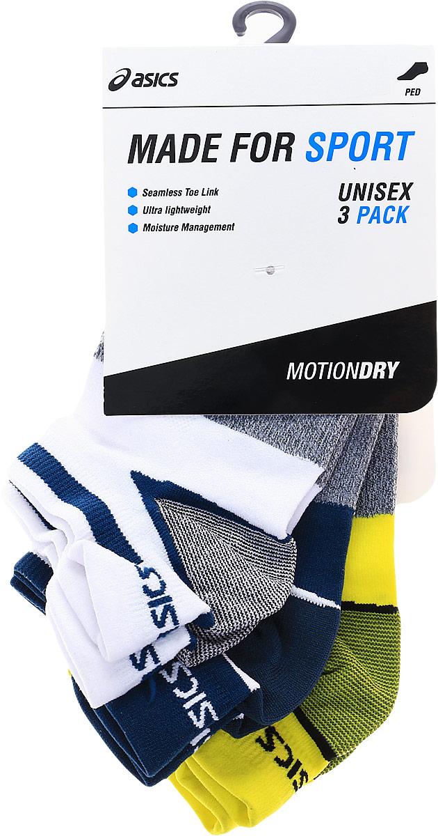 Носки мужские Asics 3PPK LYTE Sock, цвет: белый, синий, желтый, 3 пары. 123458-8094. Размер 35/38 цены