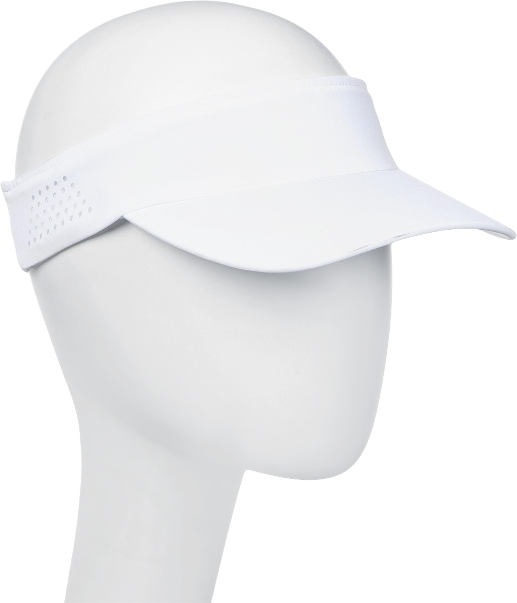 Козырек мужской Asics Visor Performance, цвет: белый. 155012-0014. Размер универсальный155012-0014