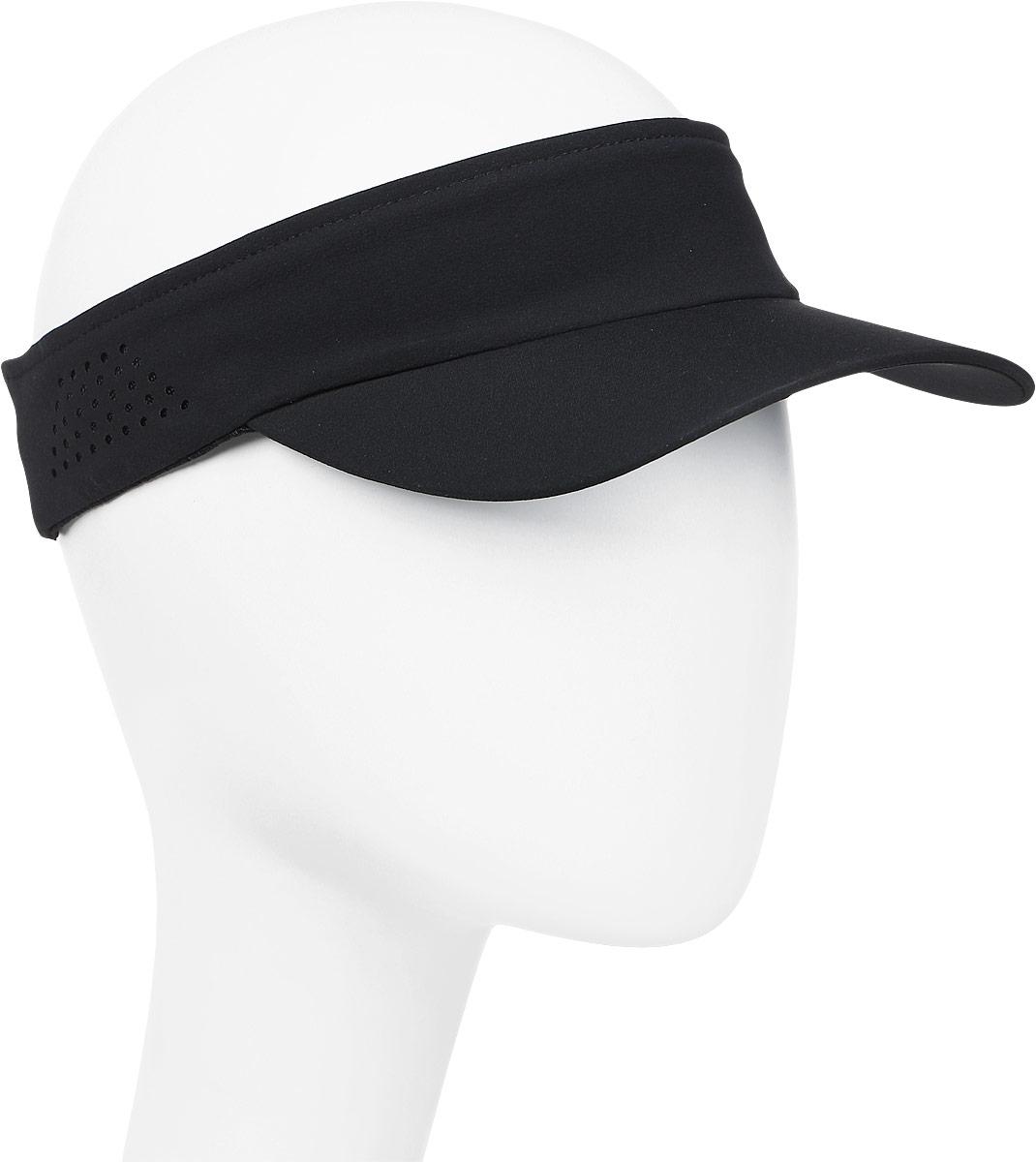Козырек мужской Asics Visor Performance, цвет: черный. 155012-0904. Размер универсальный155012-0904
