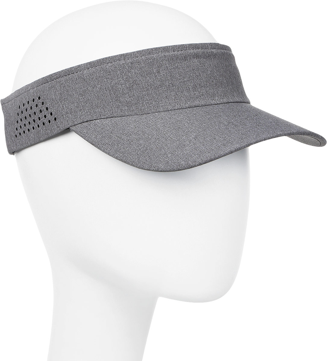 Козырек мужской Asics Visor Performance, цвет: серый. 155012-0720. Размер универсальный козырек к шлему fox metah visor белый пластик 17143 008 os
