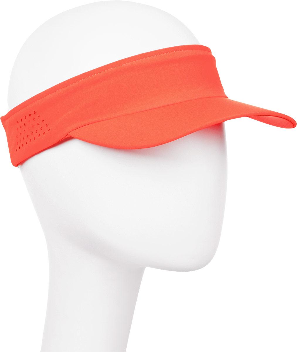 Козырек мужской Asics Visor Performance, цвет: коралловый. 155012-0698. Размер универсальный козырек к шлему fox metah visor белый пластик 17143 008 os