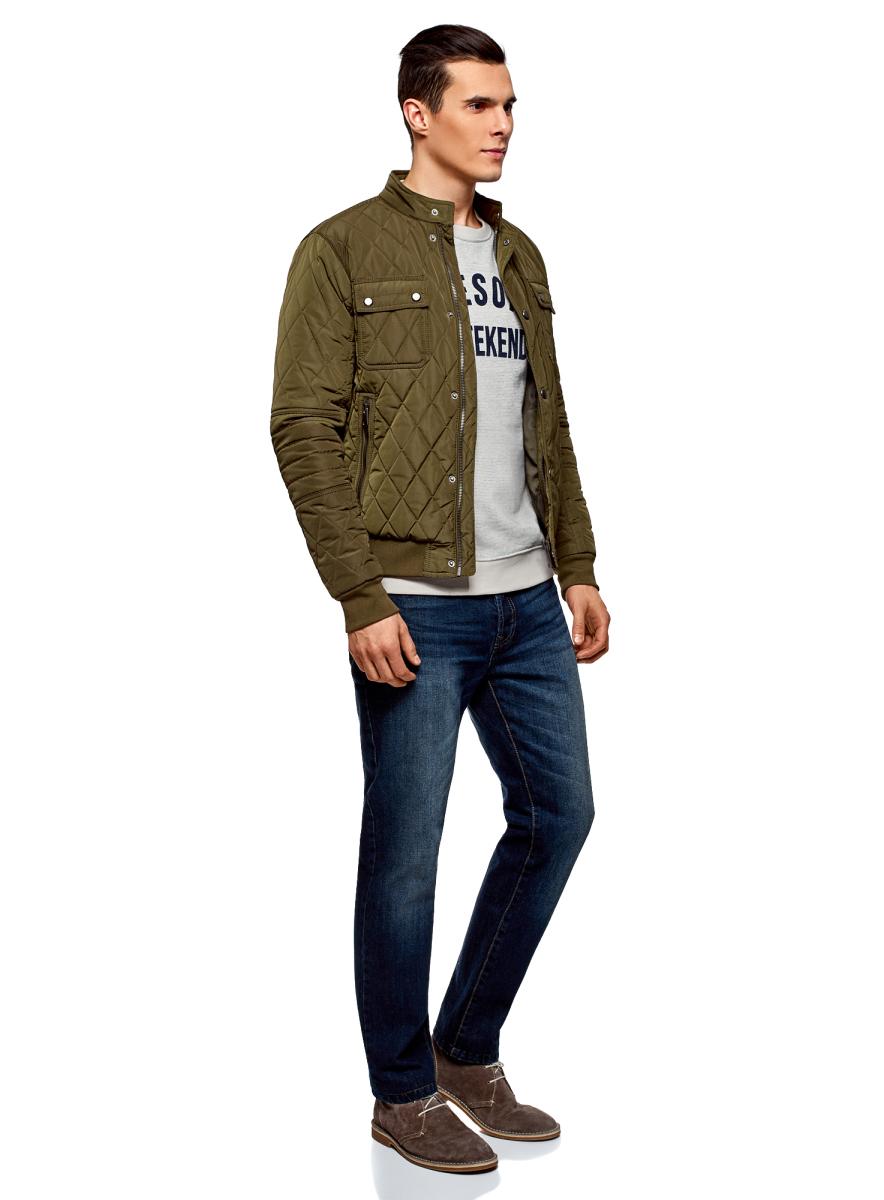 Куртка мужская oodji Lab, цвет: хаки. 1L111033M/44330N/6600N. Размер XXL (58/60-182)