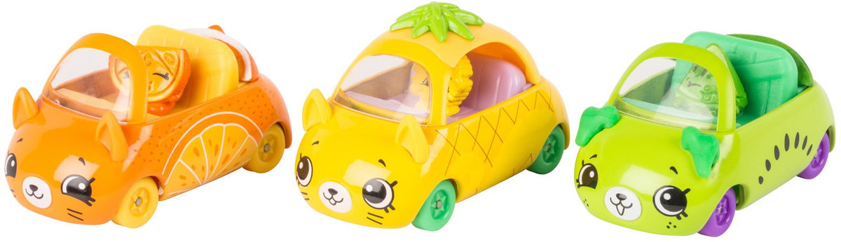 Moose Игровой набор Cutie Cars 3 машинки с мини-фигурками Shopkins 56642 moose брелок poppy corn shopkins