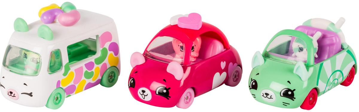Moose Игровой набор Cutie Cars 3 машинки с мини-фигурками Shopkins 56643 moose брелок poppy corn shopkins