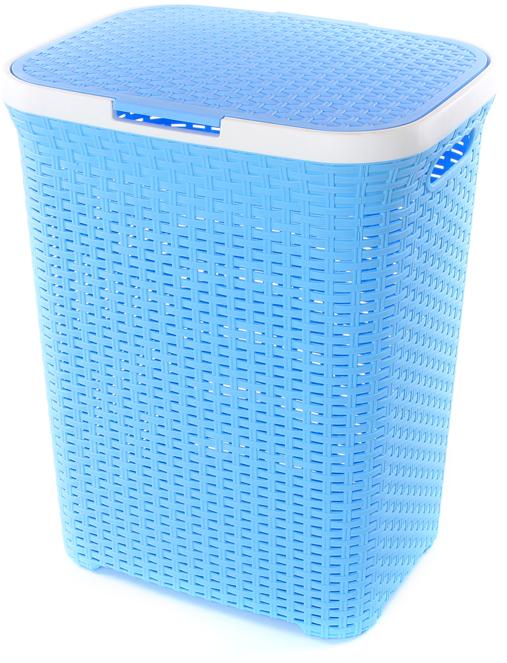 Удобная и вместительная корзина для белья с крышкой для повседневного использования. Организует пространство и впишется в любой интерьер.