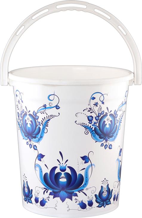 Мусорное ведро Violet Гжель, 12 л810217Удобное ведро для мусора Violet, выполненное из высококачественного износостойкого пластика. Ведро подходит для использования в ванной комнате или на кухне.Стильный дизайн и яркая расцветка прекрасно подойдет для любого интерьера ванной комнаты или кухни.