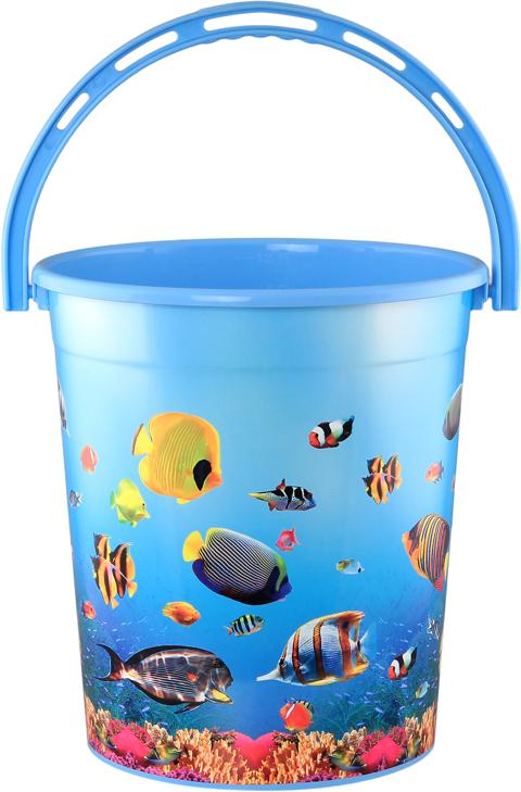 Мусорное ведро Violet Океан, 12 л810301Удобное ведро для мусора Violet, выполненное из высококачественного износостойкого пластика. Ведро подходит для использования в ванной комнате или на кухне.Стильный дизайн и яркая расцветка прекрасно подойдет для любого интерьера ванной комнаты или кухни.