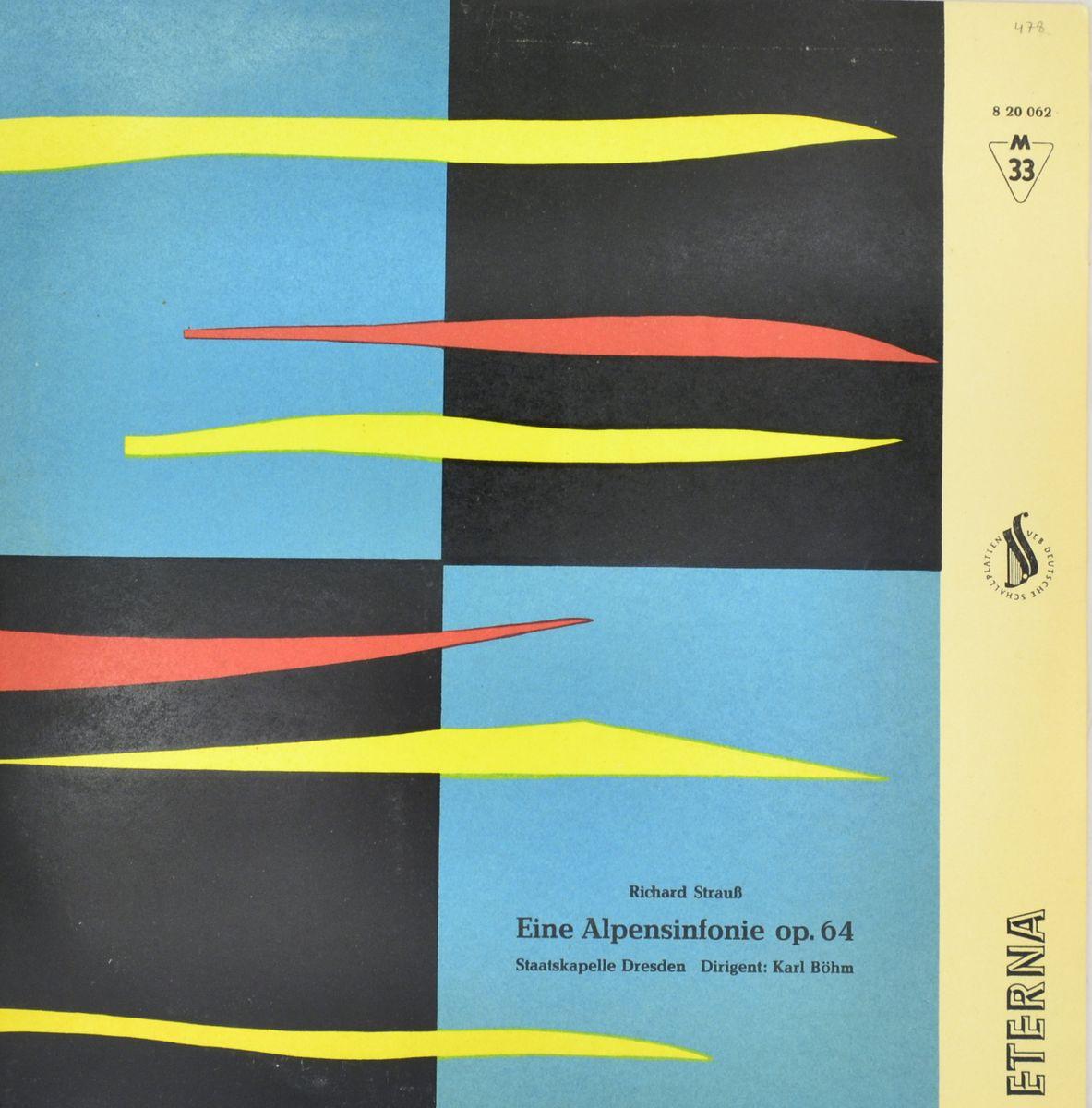Eine Alpensinfonie Op. 64 Richard Strauss (LP) richard strauss karl bohm salome