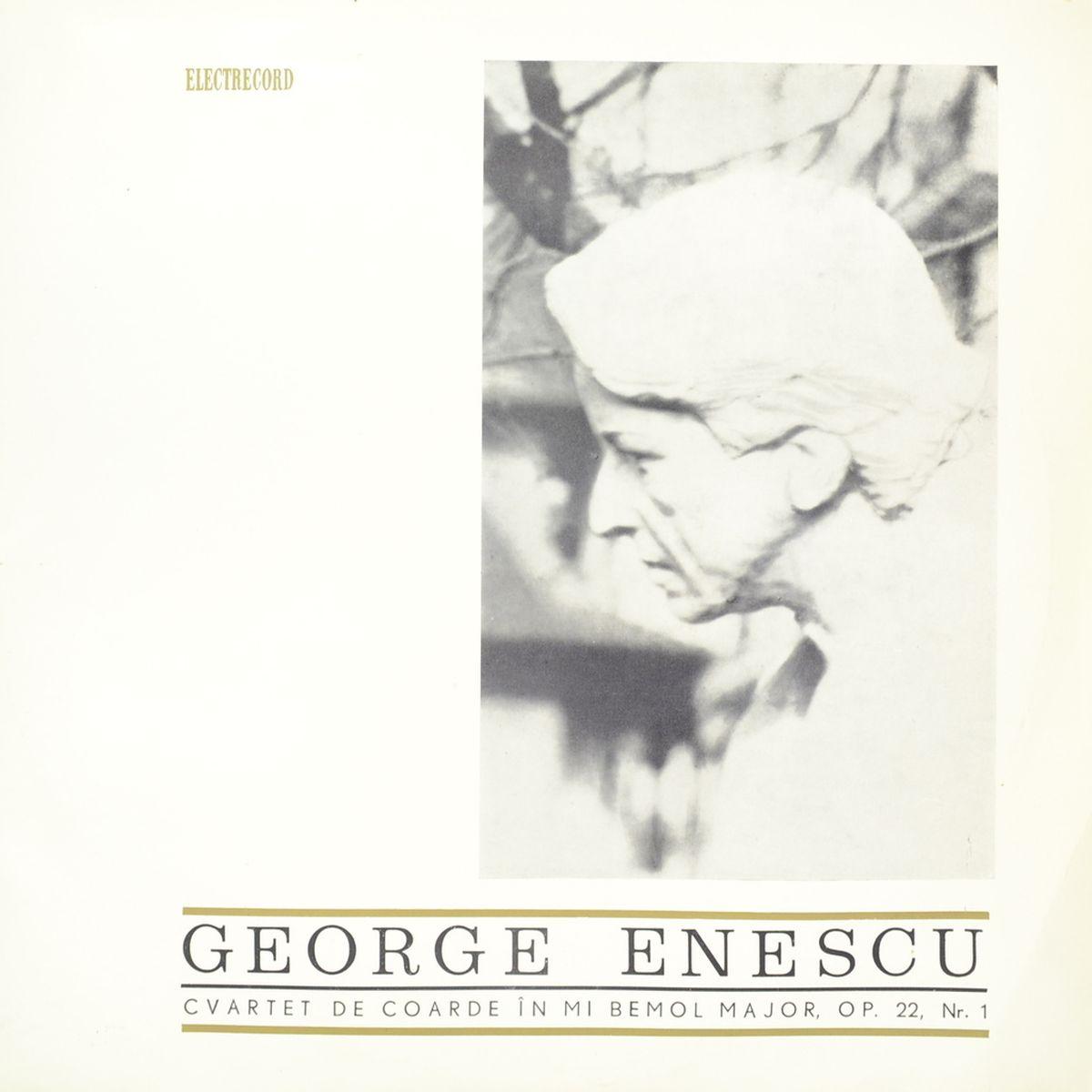 George Enescu – Cvartet De Coarde In Mi Bemol Major, Op. 22, Nr. 1 (LP)