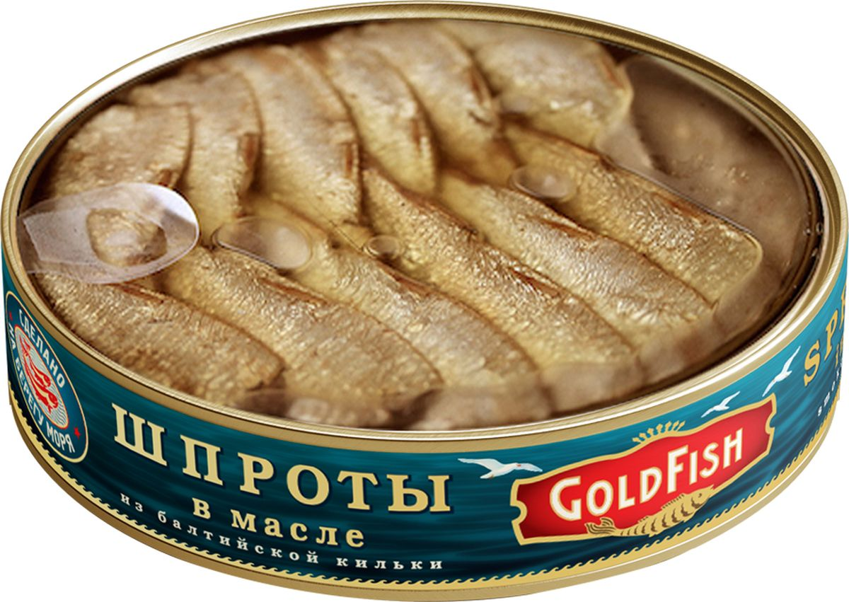 Gold Fish Шпроты с прозрачной крышкой, 160 г gold fish шпроты в томатном соусе 175 г
