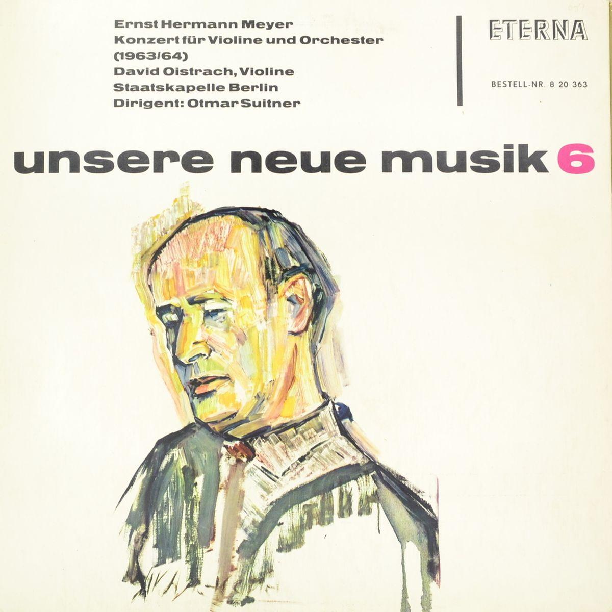 Ernst Hermann Meyer - David Oistrach, Staatskapelle Berlin, Otmar Suitner – Konzert Fur Violine Und Orchester (LP) недорго, оригинальная цена