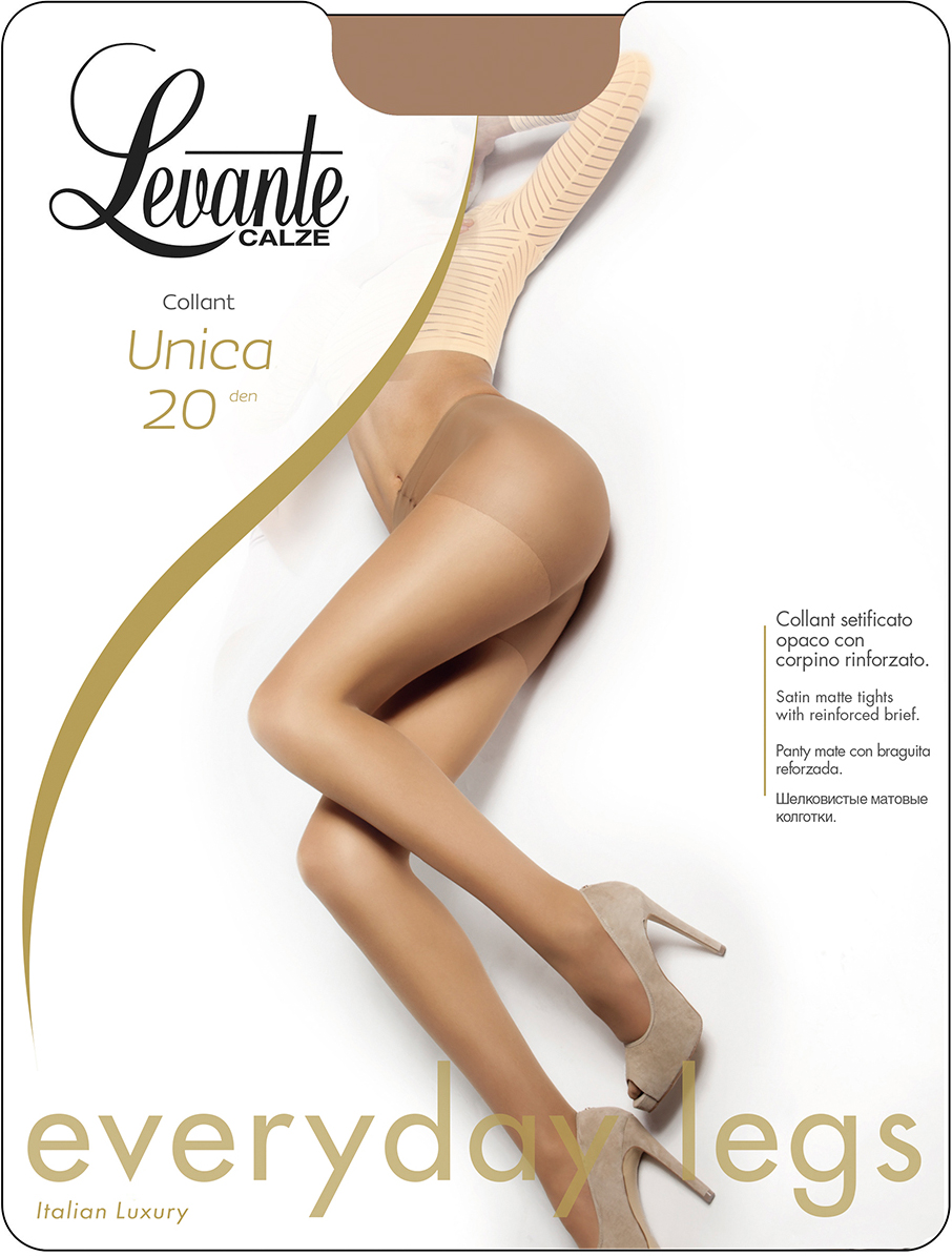 Колготки женские Levante Unica 20 Collant, цвет: Glace (темно-бежевый). Размер 4
