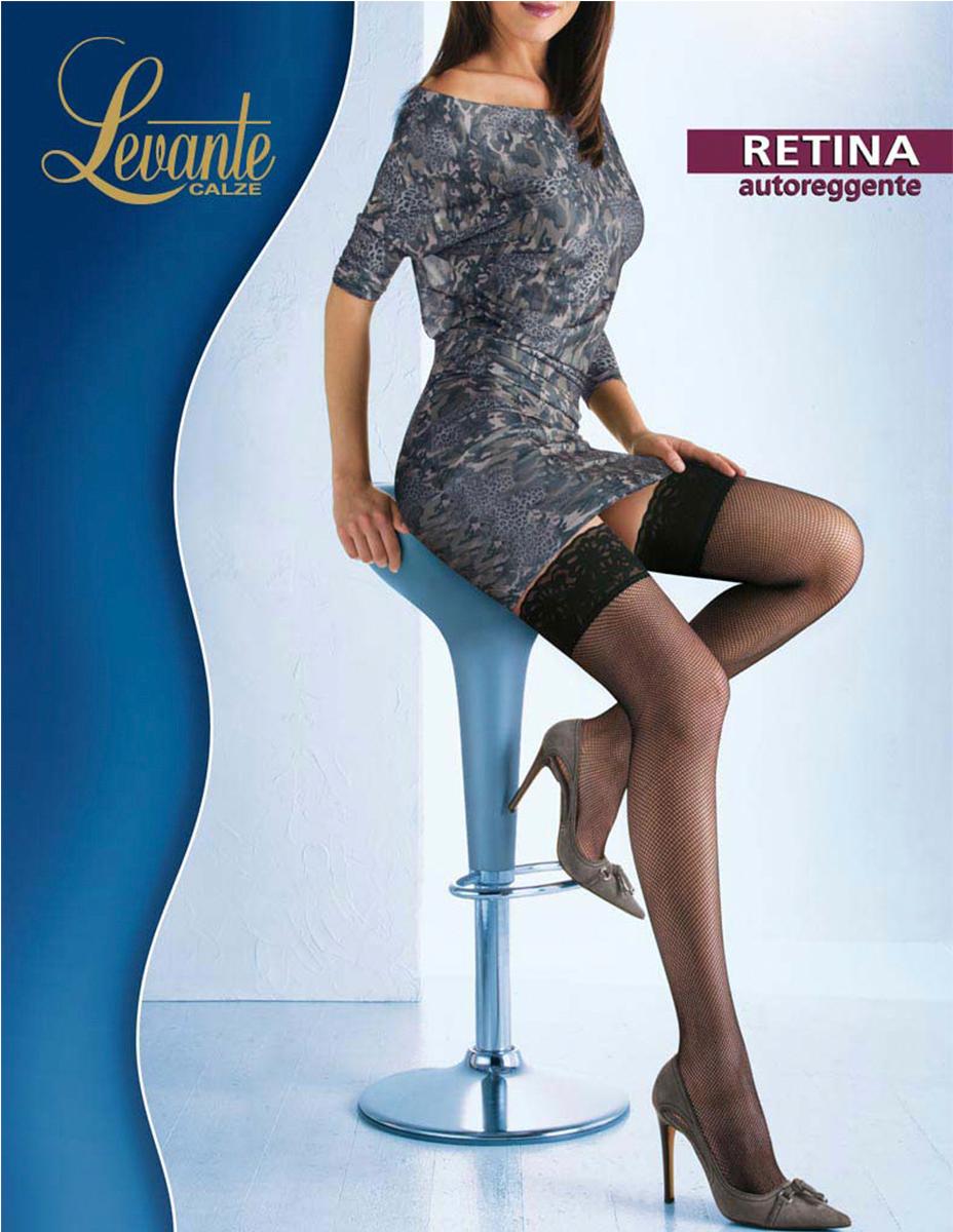 Чулки Levante Retina, цвет: Glace (темно-бежевый). Размер 1/2RetinaЧулки в сеточку с ажурной резинкой на силиконовой основе. Модель с невидимым мыском.
