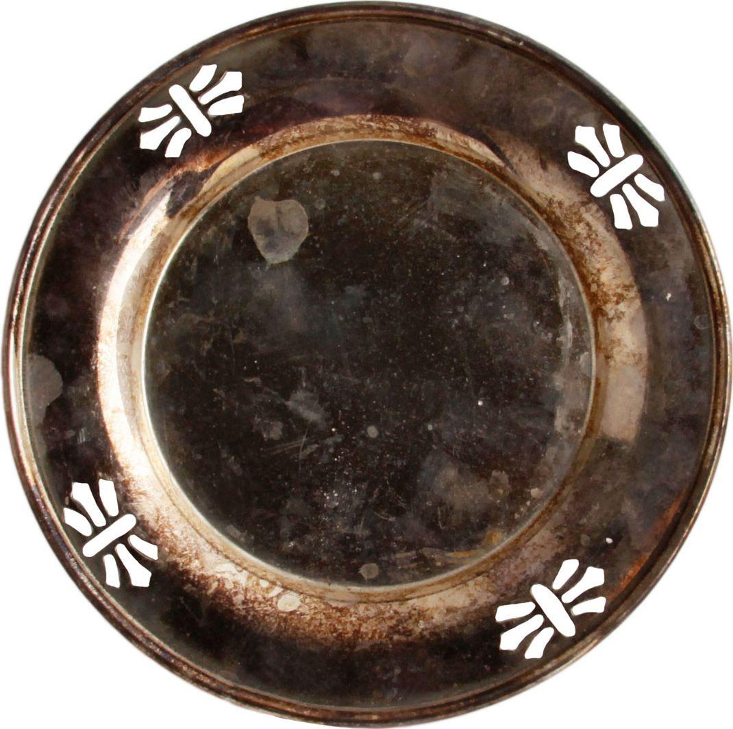 Блюдце в классическом стиле. Мельхиор, серебрение. Великобритания , вторая половина XX века