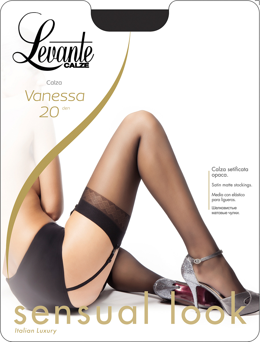 Чулки Levante Vanessa 20, цвет: Dore (темно-бежевый). Размер 4 чулки seven til midnight большого размера с кружевной резинкой xl телесный