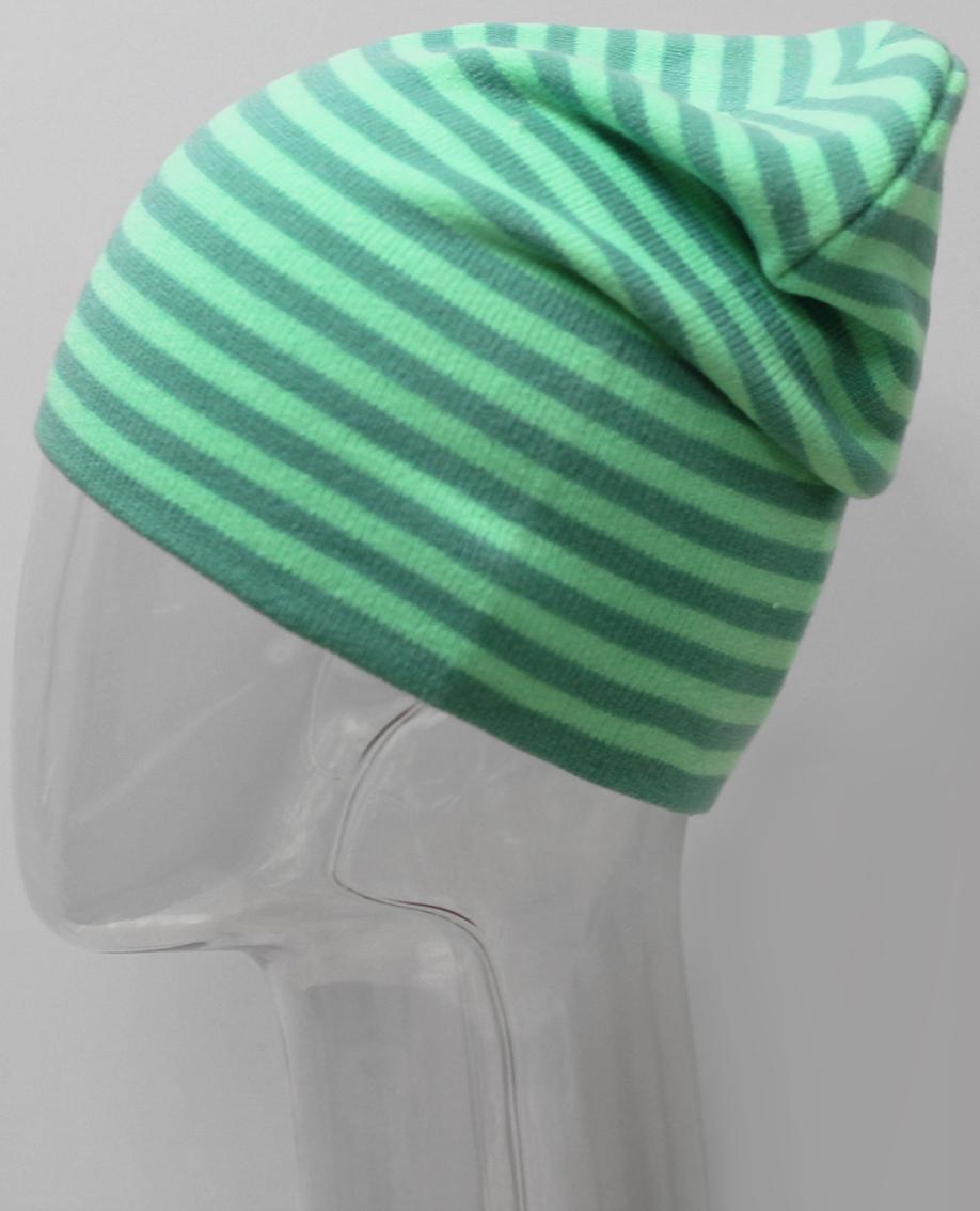 Шапка для девочки Elfrio, цвет: зеленый. RFH7527/3. Размер 55/56RFH7527/3Высокоэластичная шапка для девочки Elfrio подойдет для прогулок в прохладную погоду. Двойная модель удлиненной формы хорошо тянется и не имеет заднего шва. Яркое сочетание контраста полос в изделии дополнит современный образ. Уважаемые клиенты!Размер, доступный для заказа, является обхватом головы.