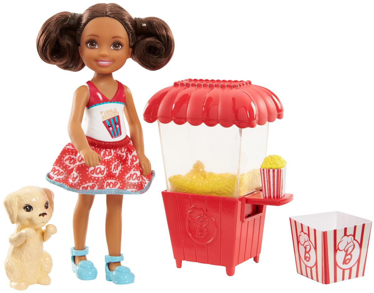 Barbie Игровой набор с куклой Челси и щенок аксессуары для игровых приставок