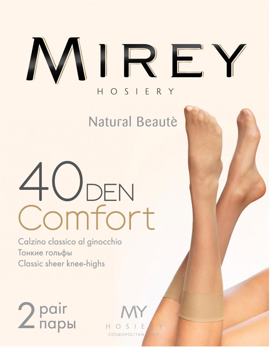 Гольфы женские Mirey Comfort 40 New, цвет: Daino (бежевый), 2 пары. Размер универсальныйComfort 40 NewТонкие классические матовые гольфы.
