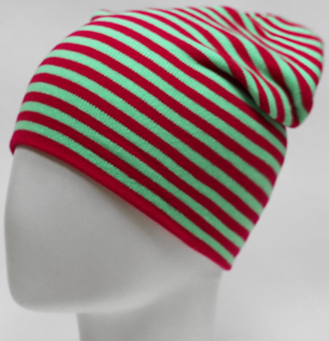 Шапка для девочки Elfrio, цвет: красный. RFH7527/3. Размер 55/56RFH7527/3Высокоэластичная шапка для девочки Elfrio подойдет для прогулок в прохладную погоду. Двойная модель удлиненной формы хорошо тянется и не имеет заднего шва. Яркое сочетание контраста полос в изделии дополнит современный образ. Уважаемые клиенты!Размер, доступный для заказа, является обхватом головы.