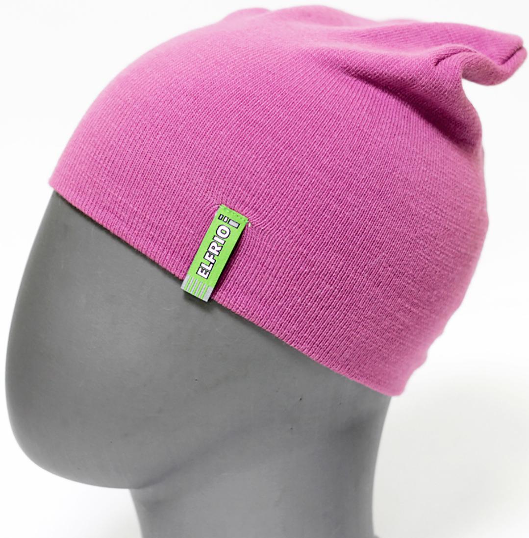 Шапка для девочки Elfrio, цвет: розовый. RFH5713. Размер 55/56RFH5713Шапка для девочки Elfrio отлично подойдет для прогулок в прохладное время года. Изделие, изготовленное из акрила и эластана, максимально сохраняет тепло. Шапка плотно прилегает к голове ребенка, мягкая и приятная на ощупь. Удлиненная модель шапки идеально подходит для любого типа лица. Изделие дополнено небольшой жаккардовой нашивкой с названием бренда. Двухслойную шапку можно носить как с отворотом, так и без. Такая модель будет актуальна как на спортивных мероприятиях, так и в повседневной жизни. Современный дизайн и расцветка делают эту шапку модным и стильным предметом детского гардероба. В ней ребенку будет тепло, уютно и комфортно. Уважаемые клиенты!Размер, доступный для заказа, является обхватом головы.