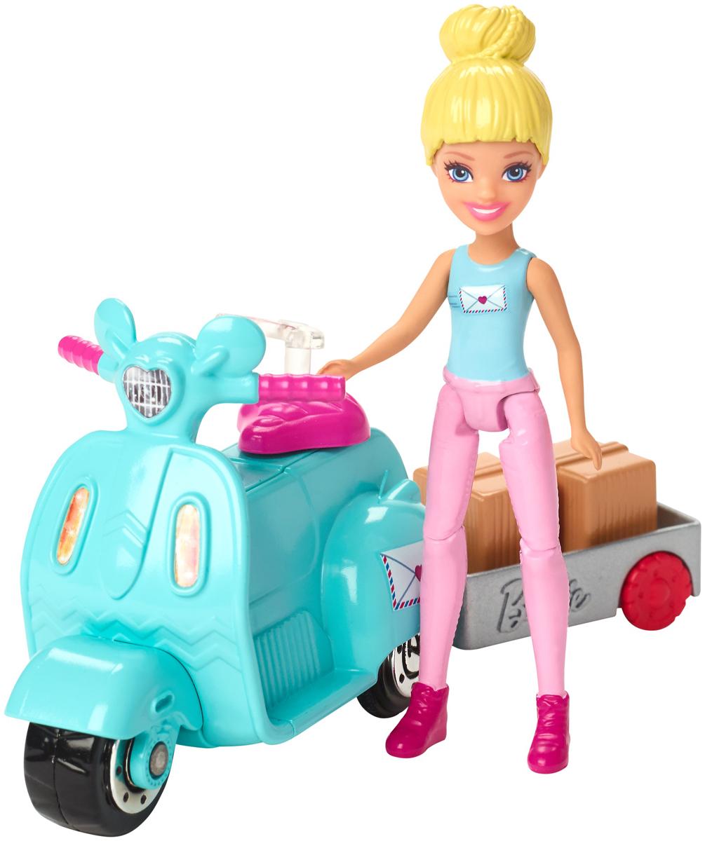 Barbie Игровой набор с куклой В движении Почта barbie набор сестра барби с питомцем barbie dmb26