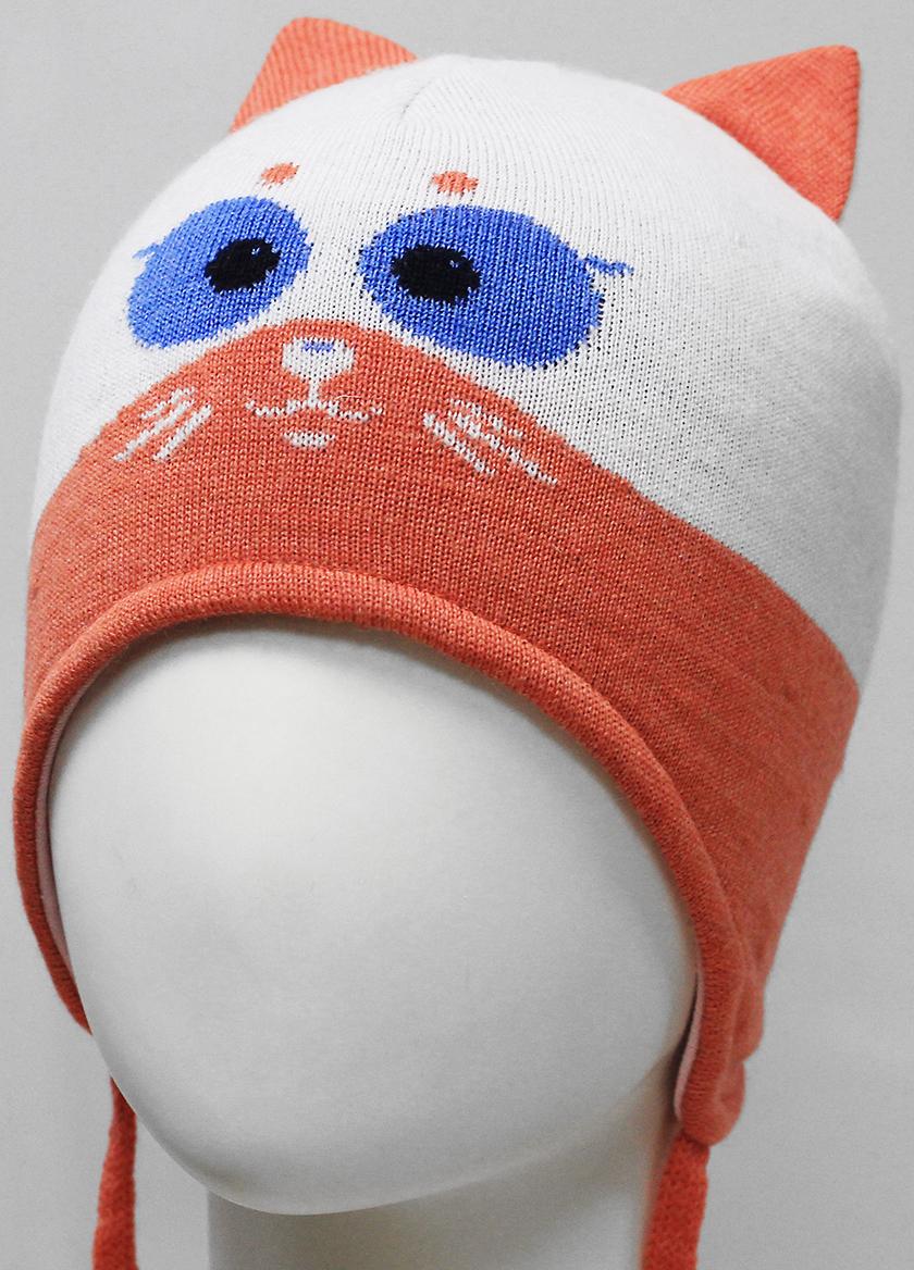 Шапка для девочки Marhatter, цвет: белый. MGU7392/5. Размер 50/52MGU7392/5Шапка с удлиненными боковыми частями Marhatter изготовлена из хлопка. Жаккардовый узор в сочетании с ушками дополняет озорной образ. Уважаемые клиенты!Размер, доступный для заказа, является обхватом головы.