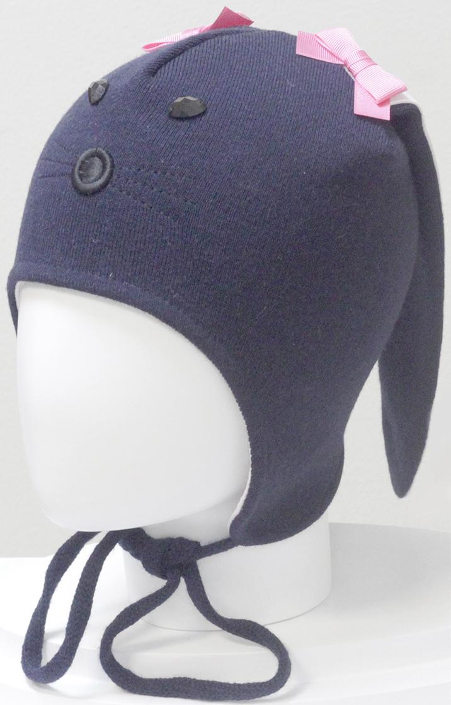 Шапка для девочки Marhatter, цвет: темно-синий. MGU6328/5. Размер 50/52MGU6328/5Шапка Marhatter забавной формы порадует любого ребенка. Модель выполнена из полушерстяной пряжи, на хлопковой подкладке. Уважаемые клиенты!Размер, доступный для заказа, является обхватом головы.