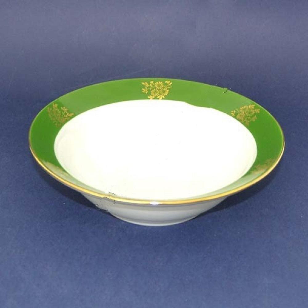 Тарелка суповая Дулевский Фарфор Зеленый борт, 500 мл