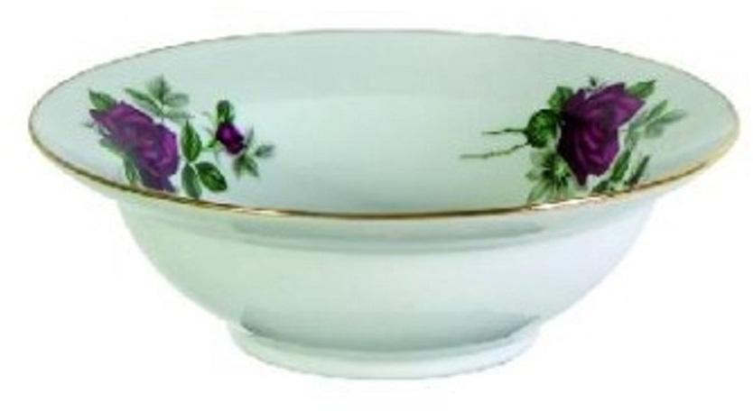 Тарелка глубокая Дулевский Фарфор Черная роза, диаметр 24 см