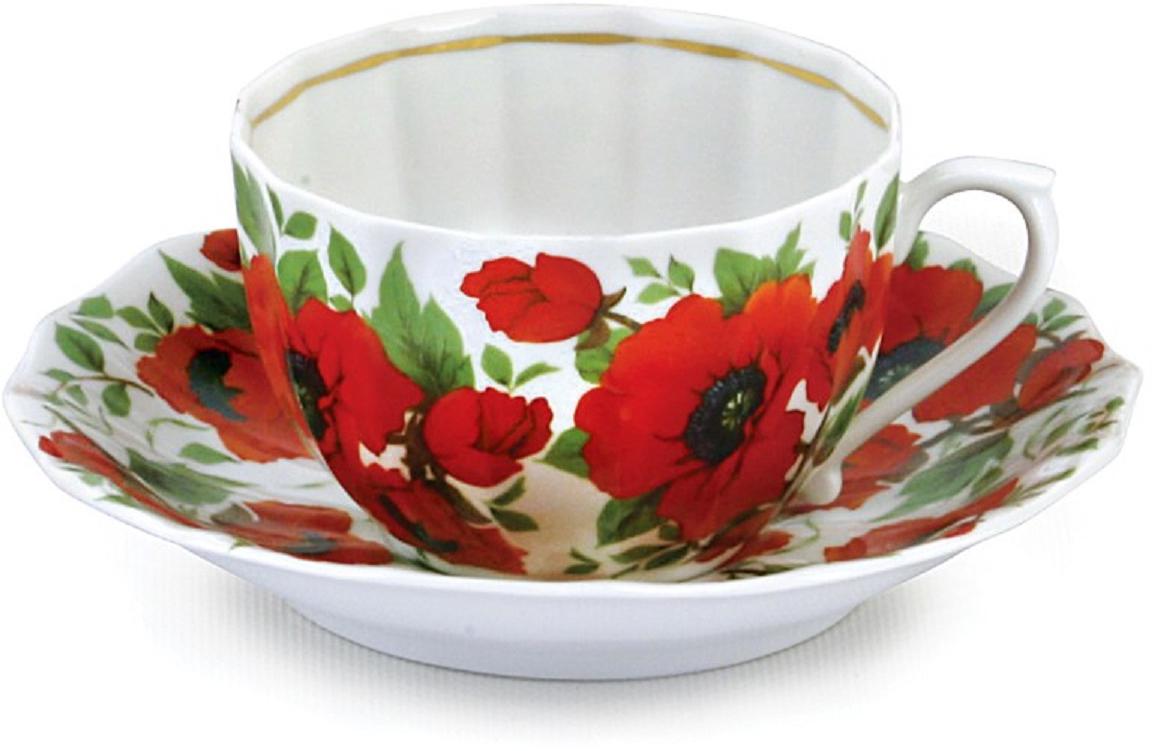 Чайная пара Фарфор Вербилок Маки, 2 предмета. 2995153029951530Чашки и чайные пары – неотъемлемые спутники любого чаепития. В большом разнообразии чашек и чайных пар коллекции «Промыслы Вербилок» каждый сможет найти себе фарфоровое изделие по сердцу. Чашки с нежными цветами для милых женщин, строго декорированные лаконичными узорами для мужчин, с веселыми рисунками и любимыми персонажами для детей, на каждый день или в подарок – мастера «Мануфактур Гарднеръ» постарались угодить всем!