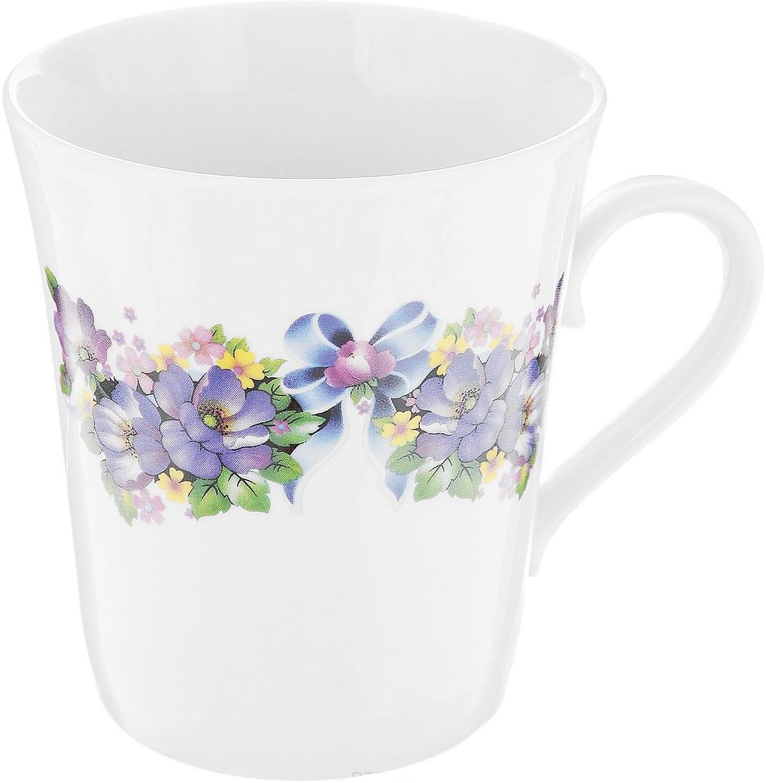 Кружка Фарфор Вербилок Коника. Фиалка. 3449021034490210Красивая фарфоровая кружка способна скрасить любое чаепитие. Посуда из такого материала позволяет сохранить истинный вкус напитка, а также помогает ему дольше оставаться теплым.