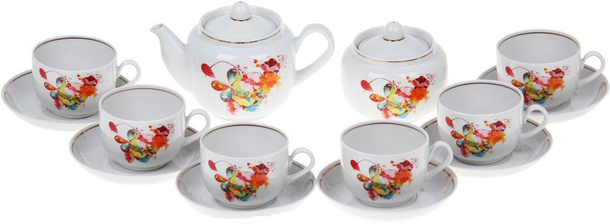 Сервиз чайный Фарфор Вербилок Август. Капля полдня, 14 предметов. 4573420 jk 27 чайный сервиз на 6 перс гармония pavone