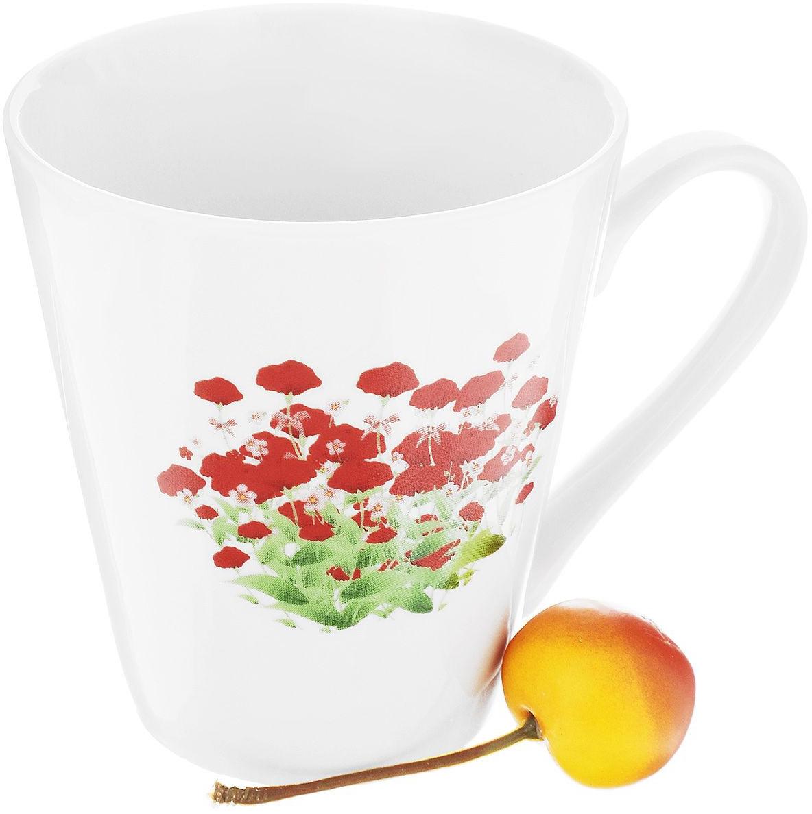 Кружка Фарфор Вербилок Альпийский луг. 92734409273440Красивая фарфоровая кружка способна скрасить любое чаепитие. Посуда из такого материала позволяет сохранить истинный вкус напитка, а также помогает ему дольше оставаться теплым.