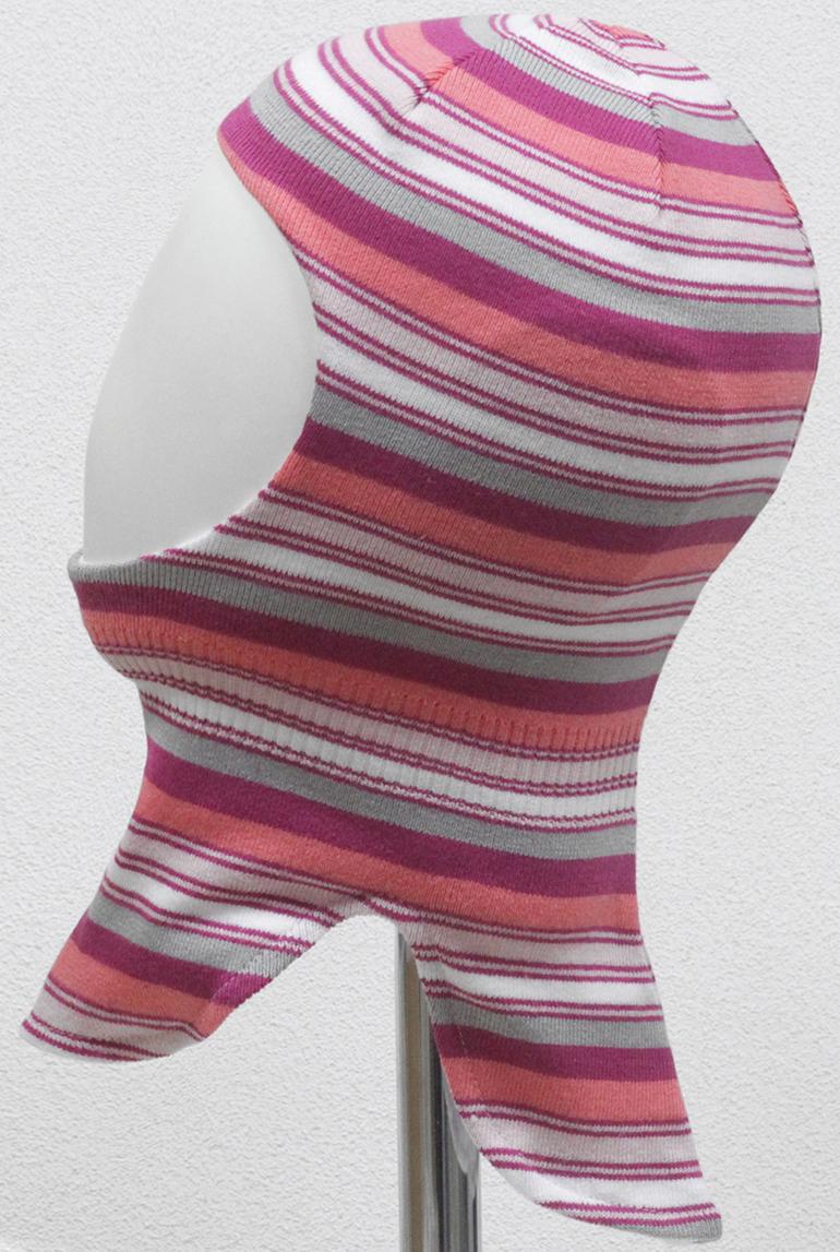 Шапка-шлем для девочки Marhatter, цвет: малиновый, светло-серый. MGT6712/5. Размер 50/52MGT6712/5Шлем для девочек Marhatter изготовлен из хлопка. Хлопковая подкладка. Для детей от 3 лет. Уважаемые клиенты!Размер, доступный для заказа, является обхватом головы.
