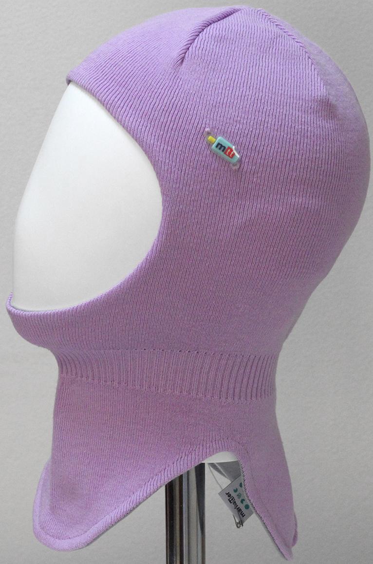 Шапка-шлем для девочки Marhatter, цвет: сиреневый. MGT6603/5. Размер 46/48MGT6603/5Шлем для девочек Marhatter изготовлен из хлопка. Модель украшена силиконовой нашивкой. Хлопковая подкладка. Для детей от 3 лет. Уважаемые клиенты!Размер, доступный для заказа, является обхватом головы.