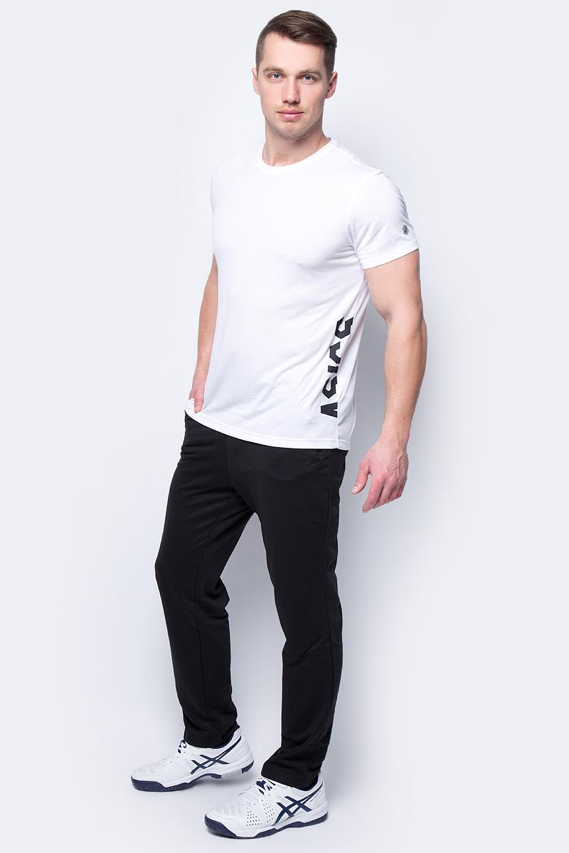 Футболка мужская Asics ESNT DBL GPX SS Top, цвет: белый. 155235-0014. Размер XXL (52) майка мужская asics performance vest цвет салатовый 149102 0432 размер xxl 56