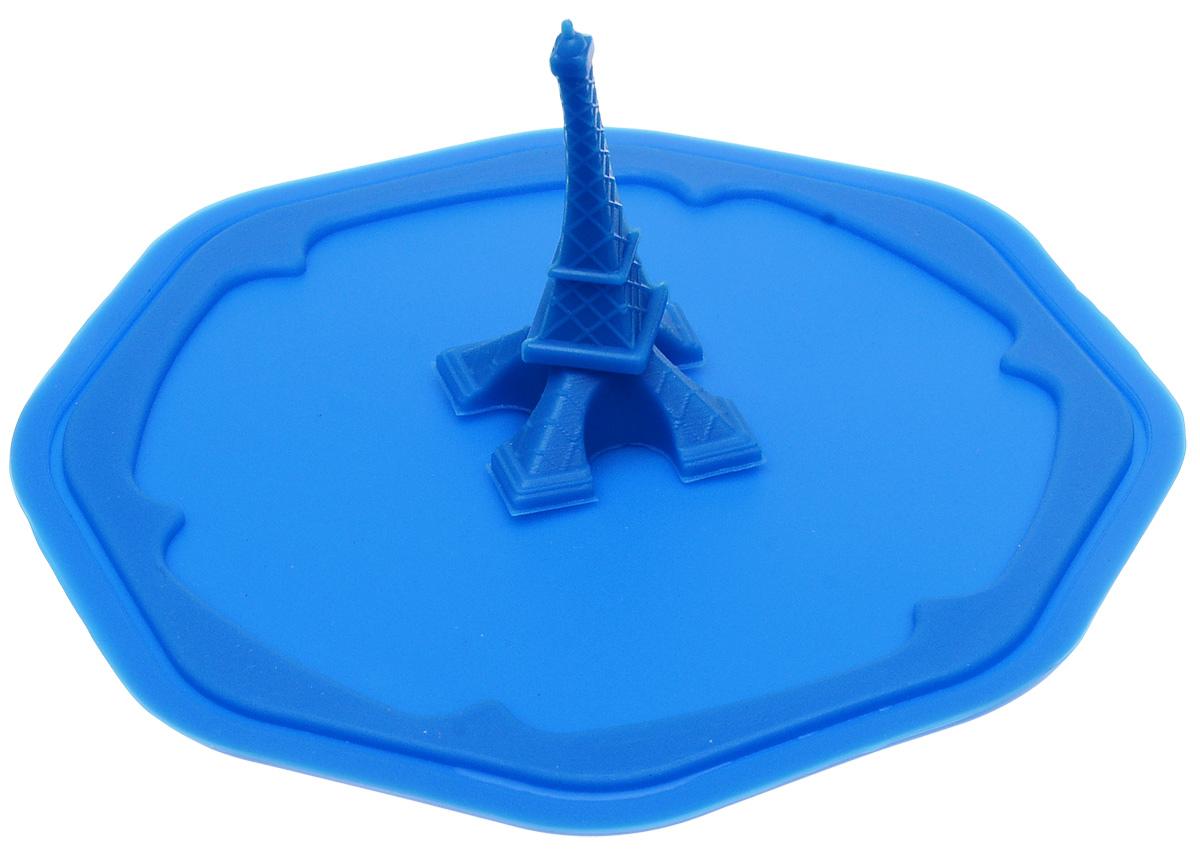 Крышка Доляна Париж, цвет: синий, 10 см861110_синийКрышка Доляна Париж станет незаменимым помощником любой современной хозяйки! Она выполнена из безопасного пищевого силикона, устойчивого к температурам от -40 до +250 градусов. Изделие не впитывает посторонние запахи, удобно в транспортировке и хранении. Яркие света и необычная форма ручки привлекут внимание любого посетителя вашей кухни, а вам поможет не потерять крышку среди остальной посуды.