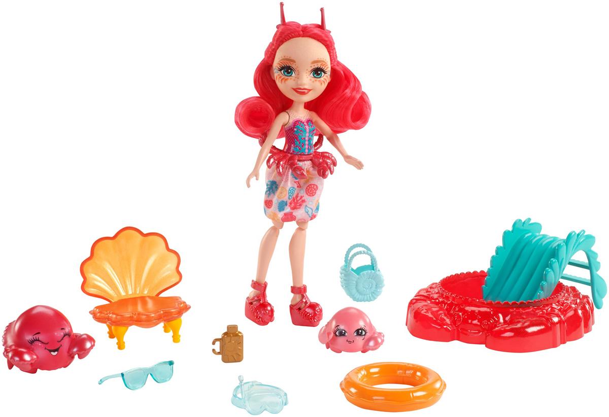Enchantimals Игровой набор с куклой Cameo Crab, Chela & Courtney - Куклы и аксессуары