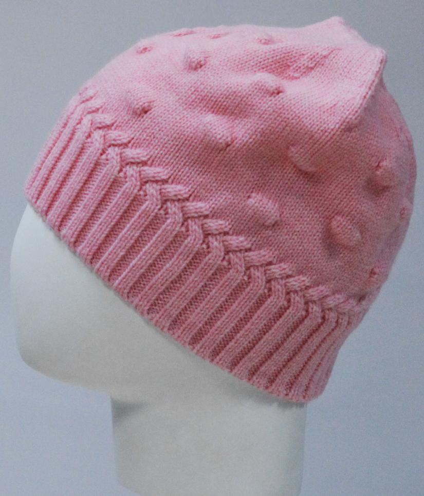Шапка для девочки Marhatter, цвет: розовый. MGH8135. Размер 50/52