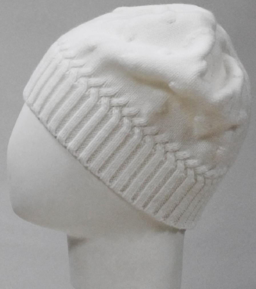 Шапка для девочки Marhatter, цвет: белый. MGH8135. Размер 50/52