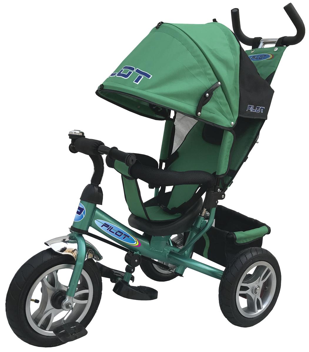 Pilot Велосипед трехколесный цвет зеленый PTA3G велосипед 3 х колесный puky трехколесный велосипед cat 1l capt n sharky