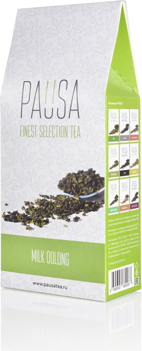 Pausa Молочный улун чай, 90 г4665303860087Молочный улун или Най Сян Цзинь Сюань (Огненный Цветок Молочного Аромата) является полуферментированным чаем и по степени ферментации находится между зеленым, черным и красным. Даже без сахара вкус молочного улуна мягкий и нежный. Технология обработки чайного листа позволяет сохранять витамины и полезные вещества. Имеет тонизирующий и согревающий эффект. Цвет настоя: Золотисто-зеленый, неинтенсивный, прозрачный. Аромат: Цветочно-фруктовые ноты с яркими молочно-сливочными оттенками. Вкус: Незначительная терпкость, умеренная кислотность, послевкусие -мягкое с преобладанием цветочных, растительных нот и молочно-кондитерских тонов.