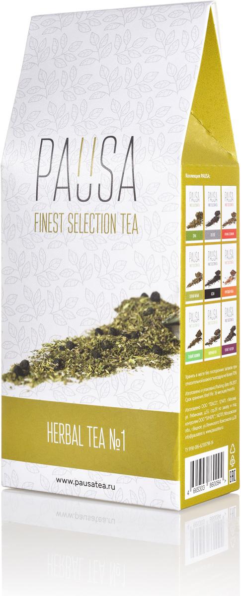 Pausa Травяной чай №1, 90 г4665303860094Оригинальный купаж, созданный из целебных трав, можно пить в любое время суток. В утренние часы он замечательно взбодрит, днем может отлично освежить в жаркую погоду, а вечером поможет расслабиться и успокоиться. Цвет настоя: Зелено-желтый, не интенсивный, непрозрачный. Аромат: Изящный с преобладанием цветочных оттенков. Вкус: Средняя терпкость, средняя кислотность, послевкусие - с мягкой кислинкой, освежающим тоном и цветочными оттенками.