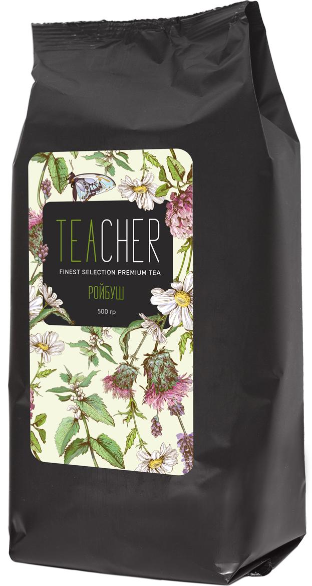 Teacher Ройбуш, 500 г4665303862555Измельченные, ферментированные листья южноафриканского кустарника ройбуш. Можно использовать в качестве основы для приготовления холодного чая. Цвет настоя: красно-коричневый, интенсивный, прозрачный. Аромат: пряный, со сладкими кондитерскими нотами. Вкус: незначительная терпкость, умеренная кислотность, послевкусие-продолжительное, фруктовые ноты со сладкими оттенками.