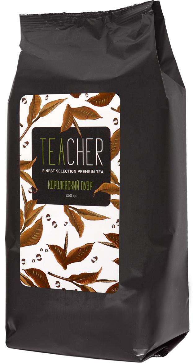 Teacher Пуэр Королевский листовойчай, 250 г c pe153 yunnan run pin 7262 семь сыну пуэр спелый чай здравоохранение чай puerh китайский чай pu er 357g зеленая пища