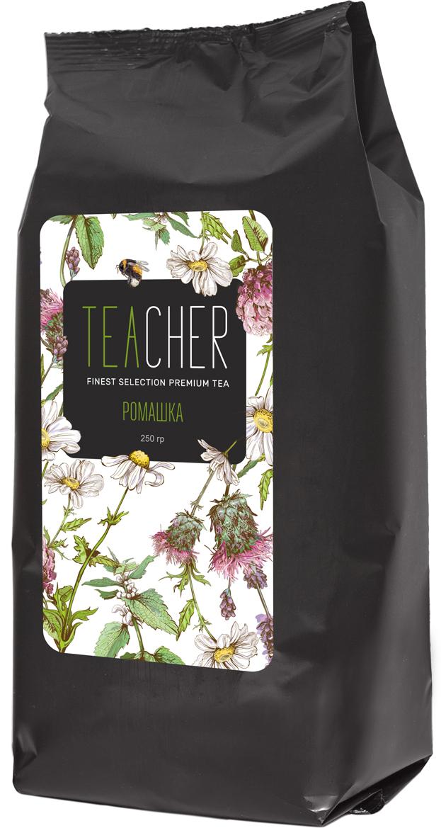 Teacher Ромашка цветки отборной ромашки, 250 г4665303863040Собранные вручную отборные соцветия луговой ромашки. Ромашка обладает антисептическими и антибактериальными свойствами. Можно заваривать в чистом виде или использовать как компонент для различных напитков и коктейлей. Средняя терпкость, средняя кислотность, послевкусие-долгое, с цветочно-травяными оттенками.